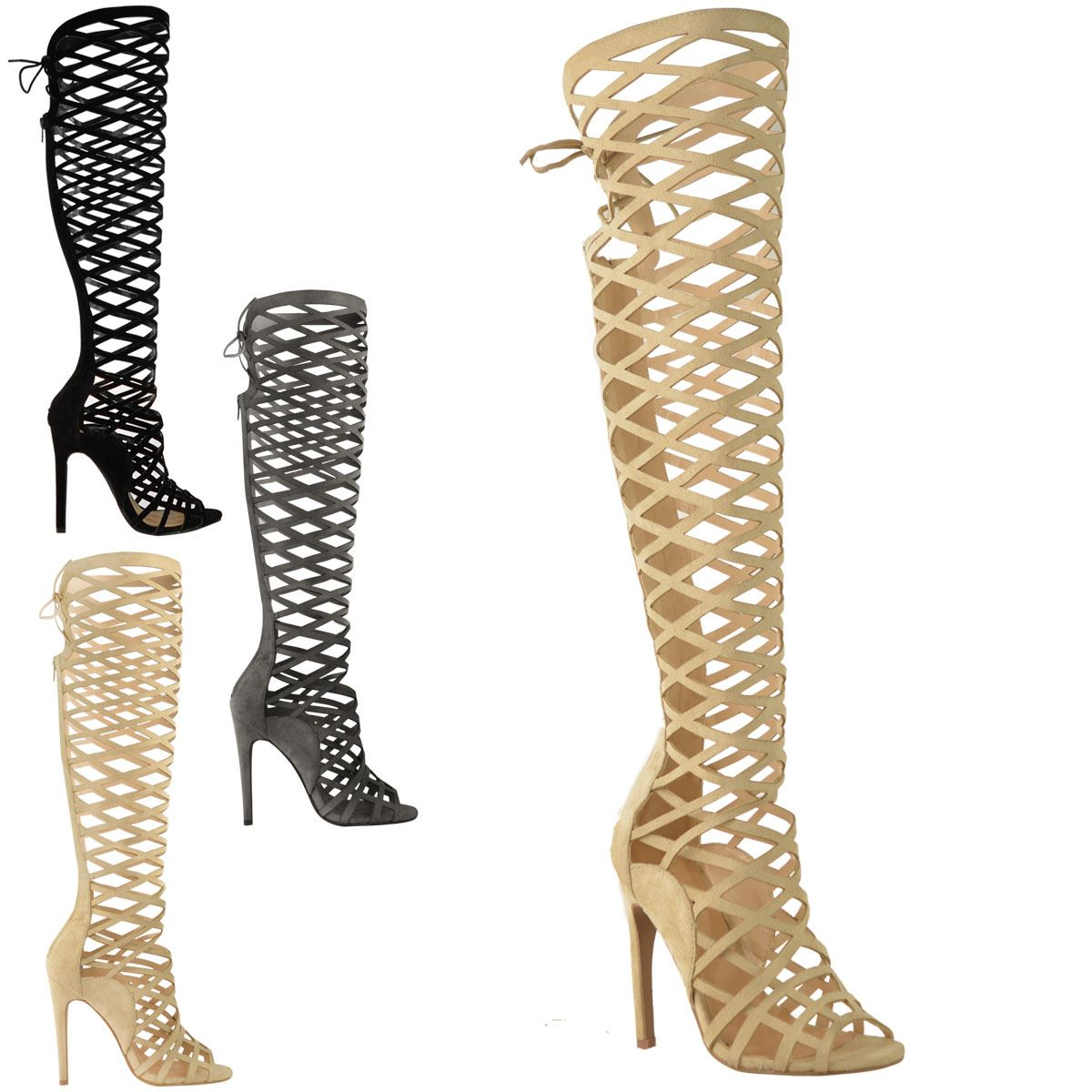 9b3123bd3ef3 Knee High Gladiator Sandals Singapore ~ Long Gladiator Sandals