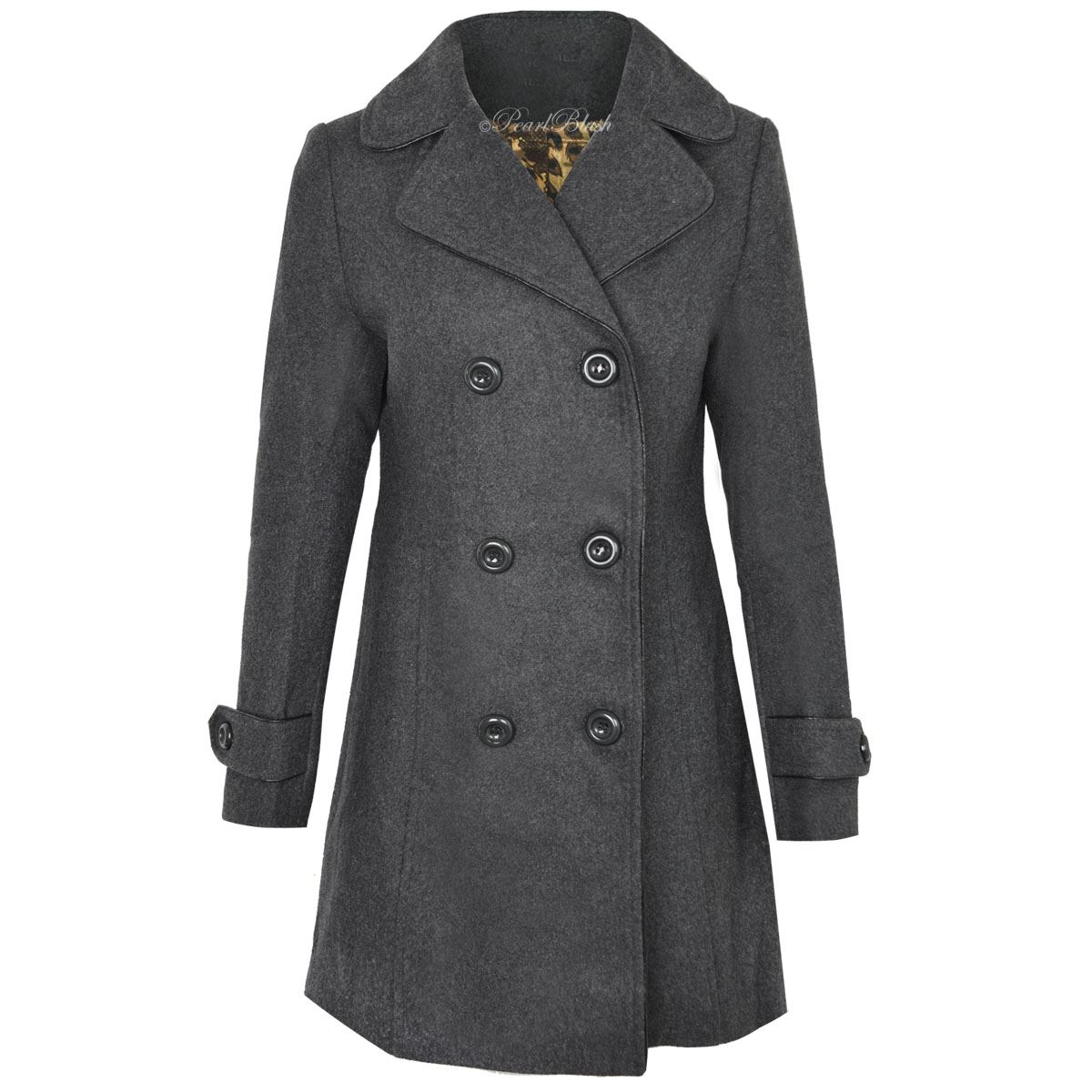 NEW WOMENS LADIES PLUS SIZE LONG DOUBLE BREASTED COAT MAC ...
