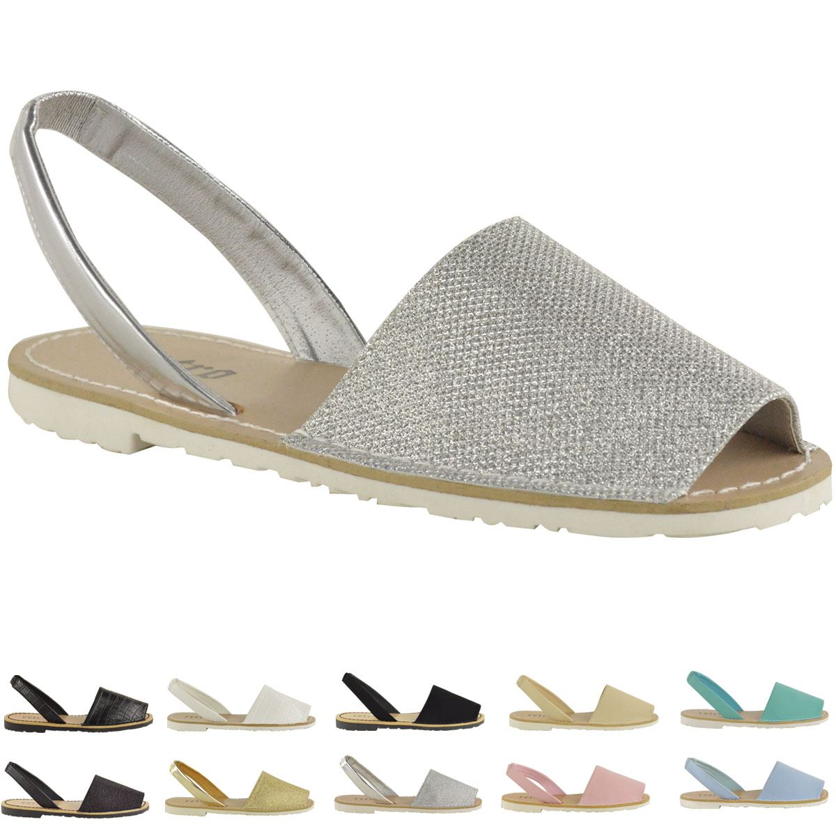 WOMENS-LADIES-SUMMER-MENORCAN-SANDALS-SLING-BACK-FLIP-FLOP-BEACH-SHOES ...