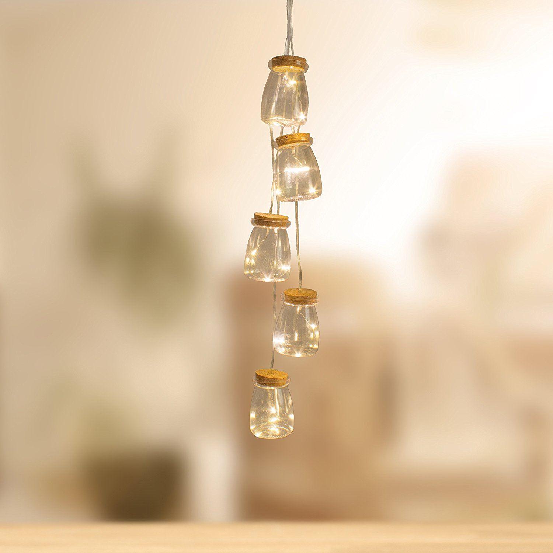 String Lights For Bottles : Set Of 5 Vintage Mini Bottle Jar Indoor String Lights 15 Warm White LED Bulbs eBay