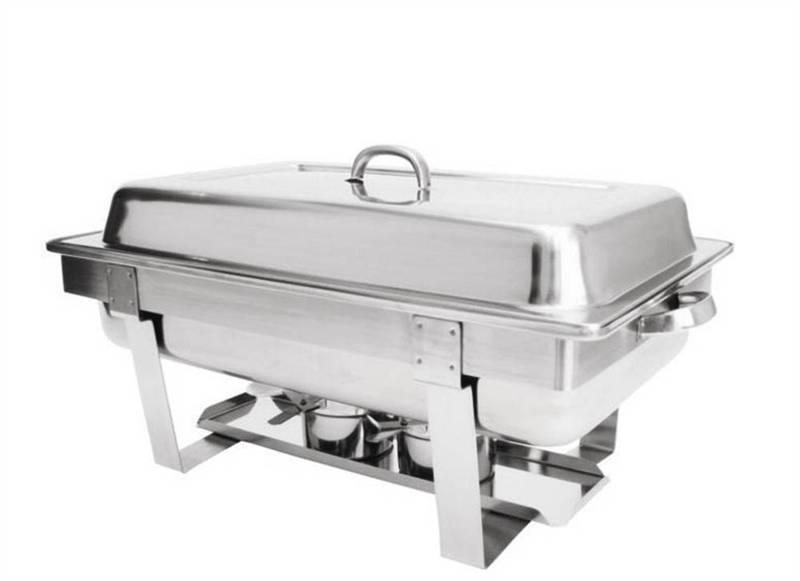 Stainless Steel Food Warmers ~ Full size stackable chafing set stainless steel food