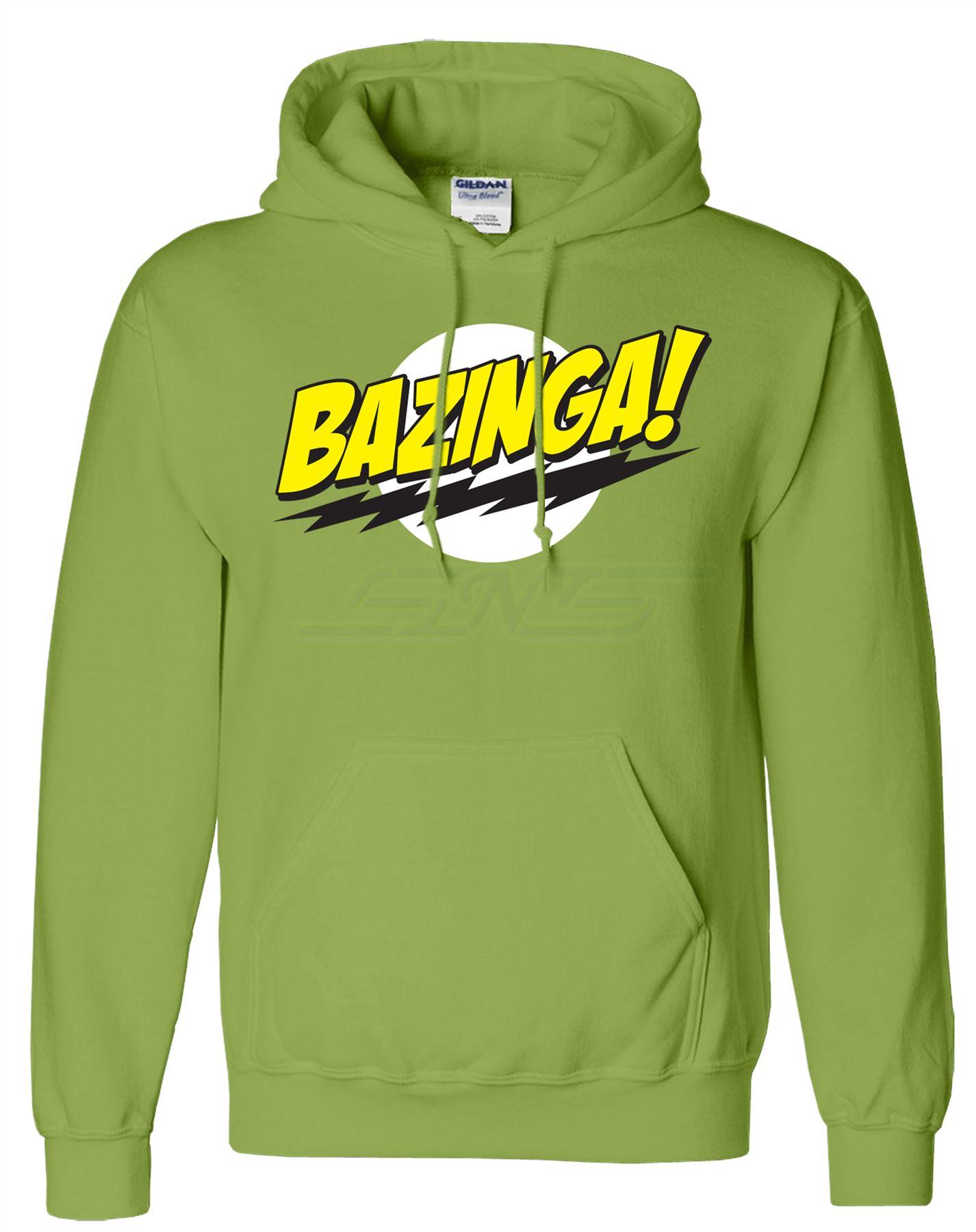 Mens-Bazinga-Hoodie-Hooded-Sweatshirt-Pullover-Sweat-Hoody-Jumper-Sports-Casual