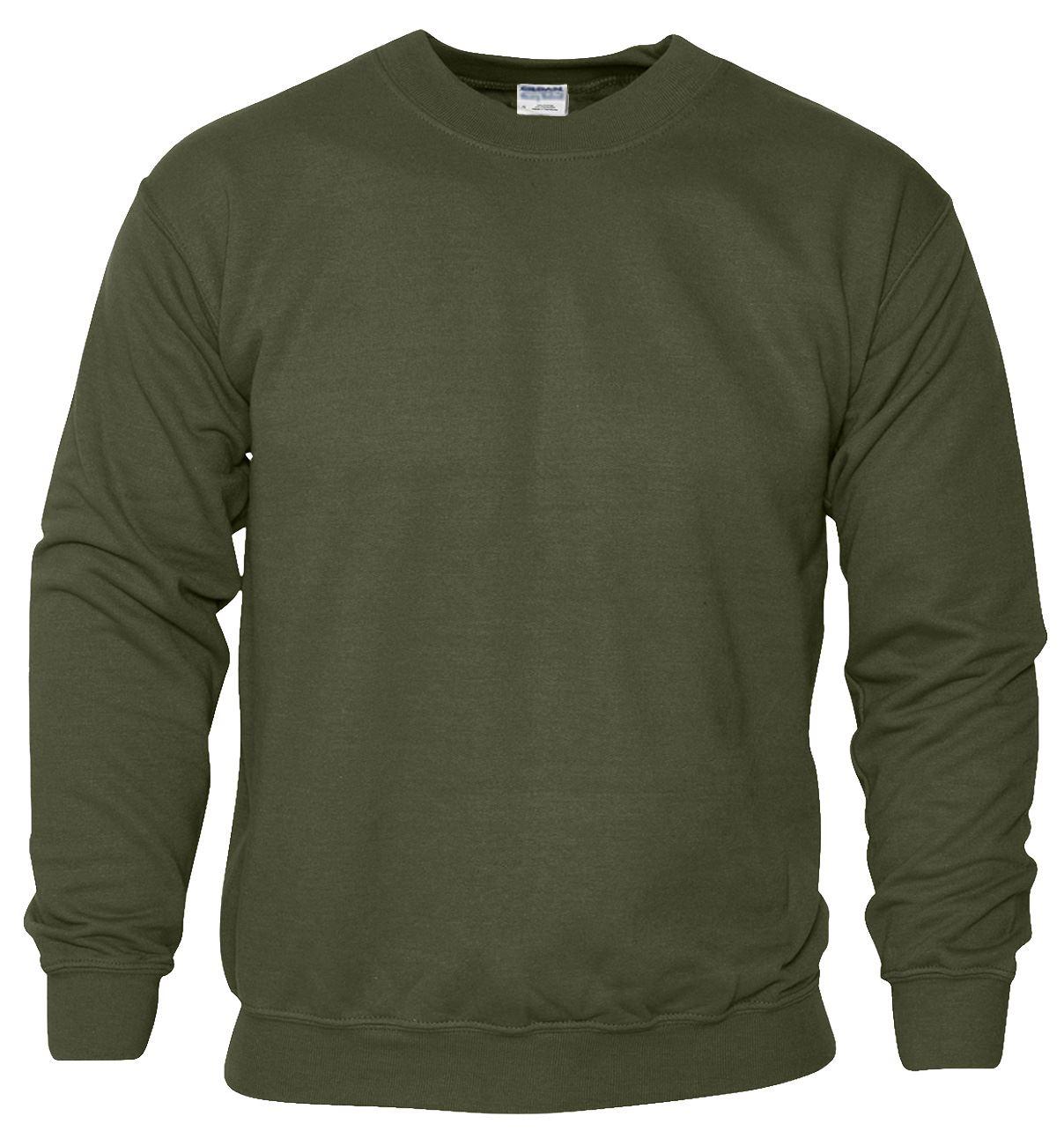 New Gildan Plain Sweatshirt Cotton Heavy Blend Crew Neck Sweater Blank Pullover
