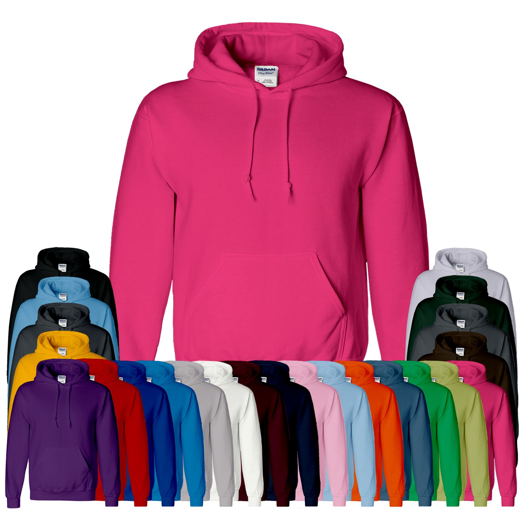 Men Women Girl kids Boy Plain Hoody Ultra Heavy Blend Hooded