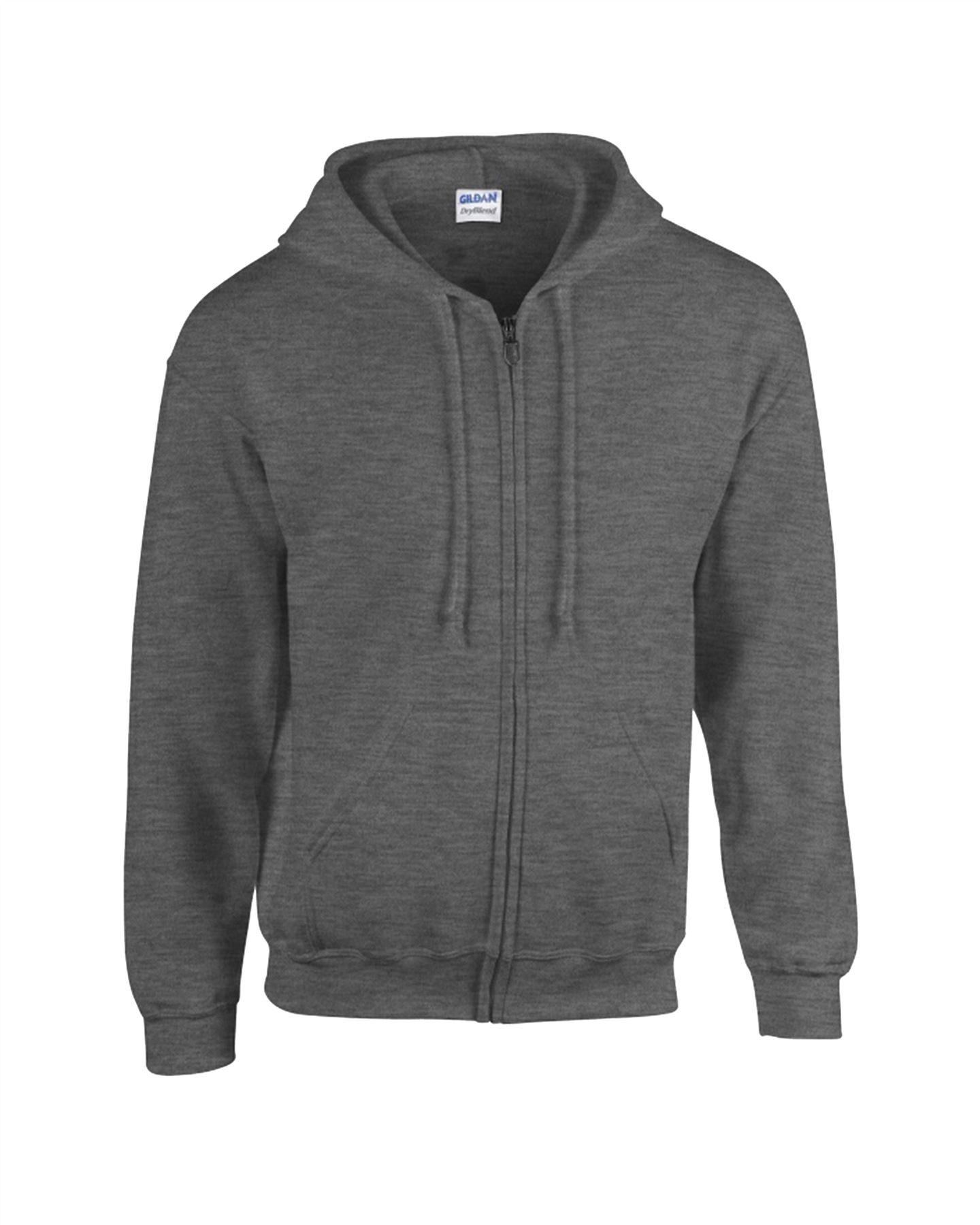 23c4d55b GILDAN Mens Kids Heavy Blend Full Zip Hooded Vintage SweatShirt ...