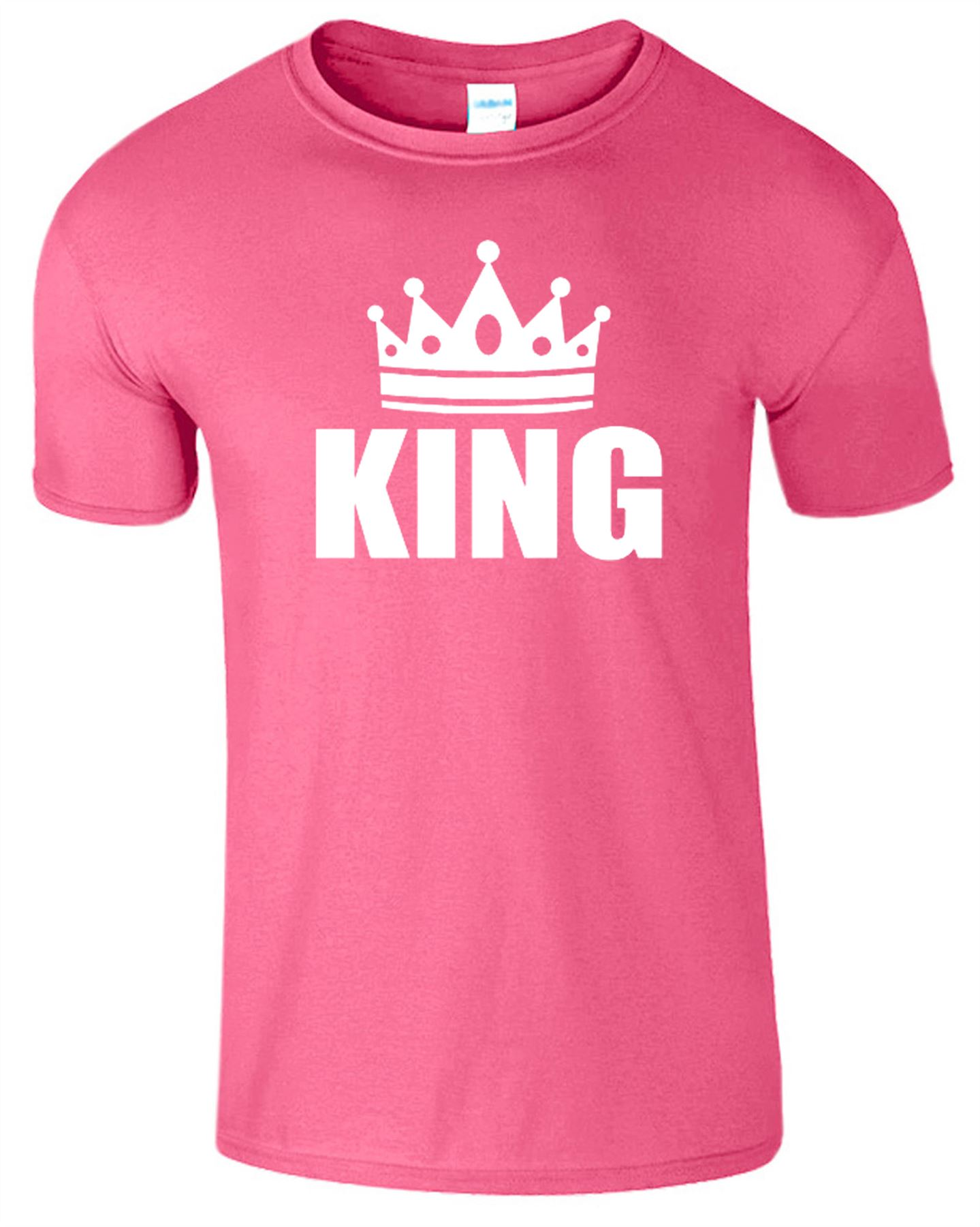 King And Queen T Shirt Mens Womens Crown Logo Romantic