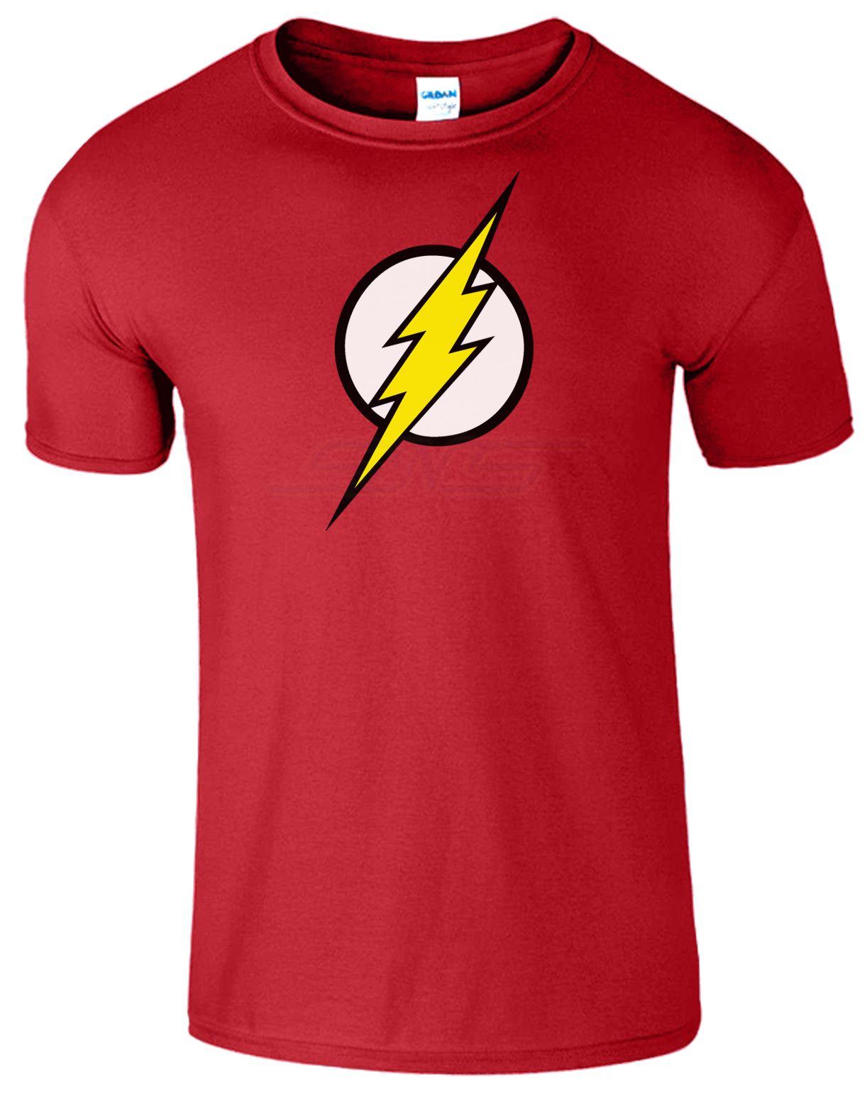 Men Boys Unisex Flash Super Hero Bazinga T-shirt Tee Top T Shirt XS S M L XL XXL