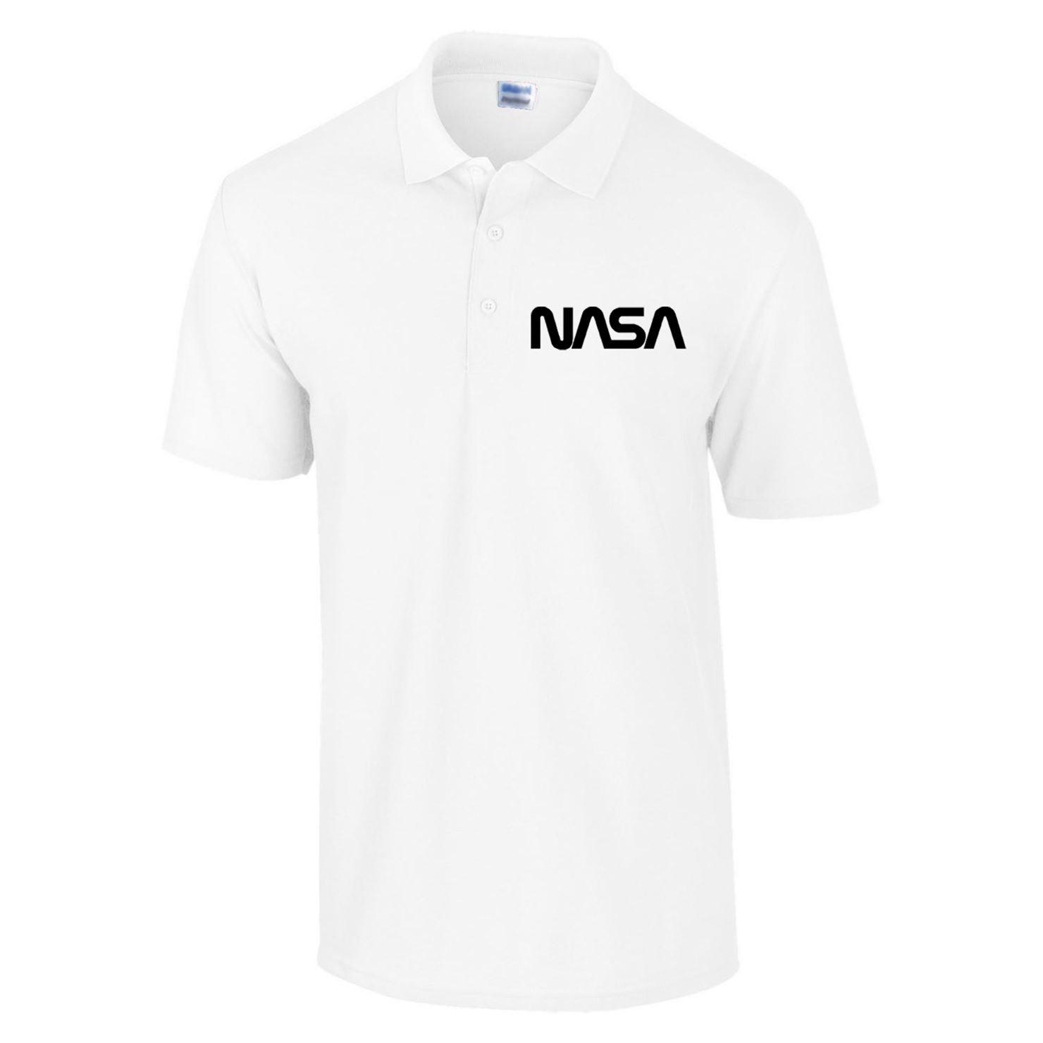 NASA Polo Geek Nerd Slogan Hipster Space Ship Solar System ...