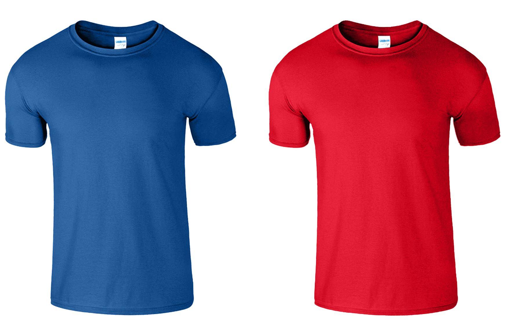 2 Pack New Mens Gildan Plain Tshirt Unisex T Shirts Soft