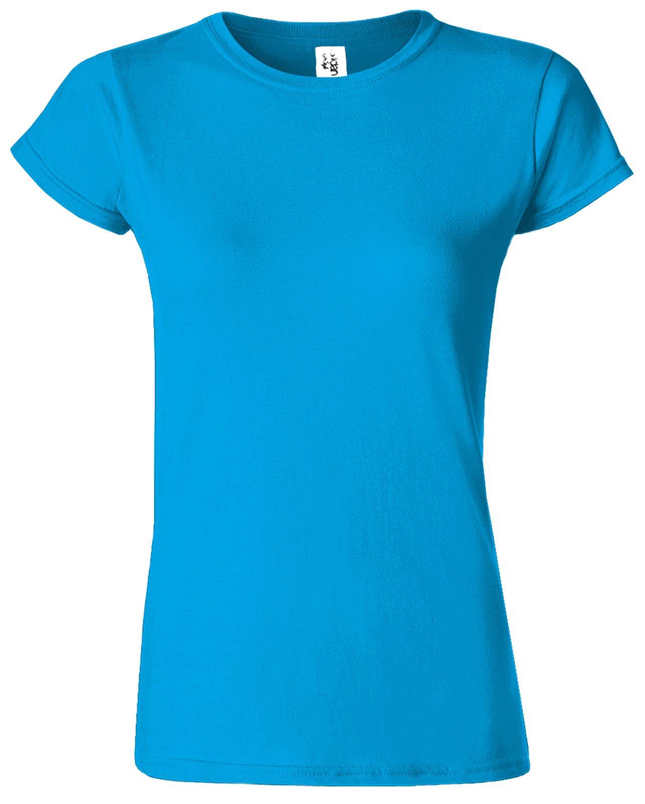 Gildan softstyle ladies t shirt skinny fit plain short for Blank tee shirts com