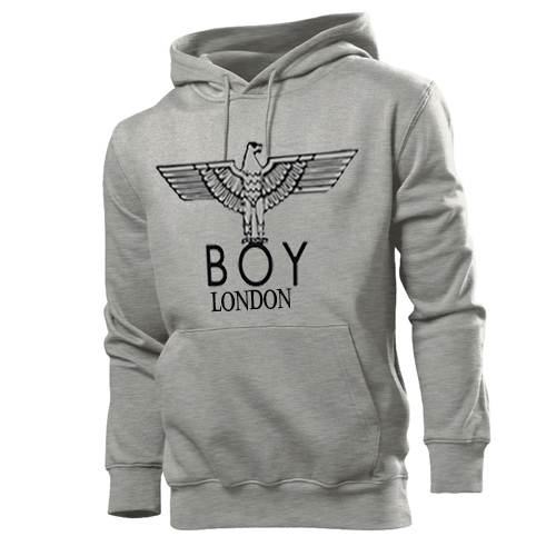 BOY LONDON men Sweatshirts: Channel Boy London's iconic underground style with this metallic eagle repeat sweatshirt. Accented with the instantly recognisable eagle logo, this cotton blend sweatshirt will inject your wardrobe with the label's signature edge.