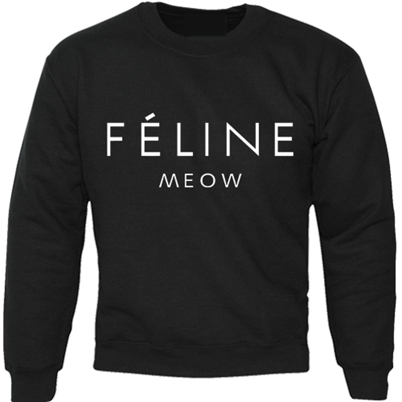 Mens-Boys-Unisex-Feline-Meow-Swag-Sweater-Hoodie-Sweat-Shirt-All-Sizes thumbnail 2
