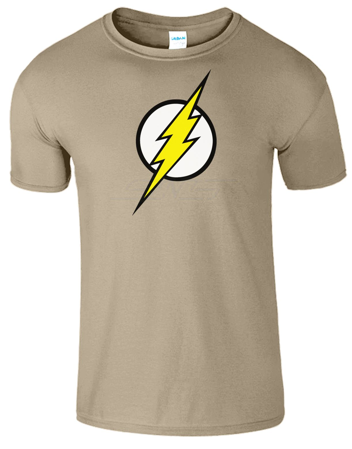 Men boys unisex flash super hero bazinga t shirt tee top t Boys superhero t shirts