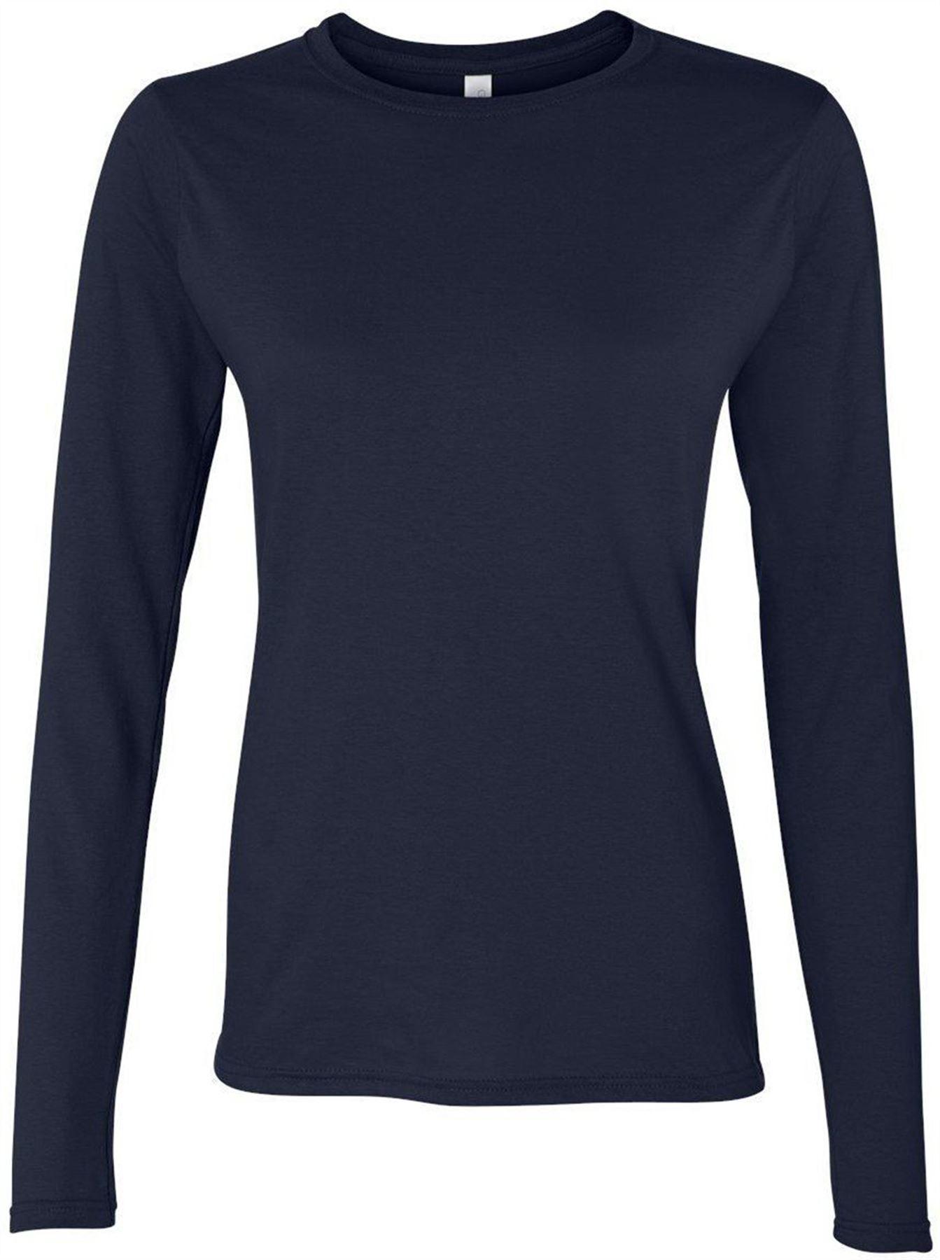 Gildan performance womens ladies blank t shirt long for Blank long sleeve shirt