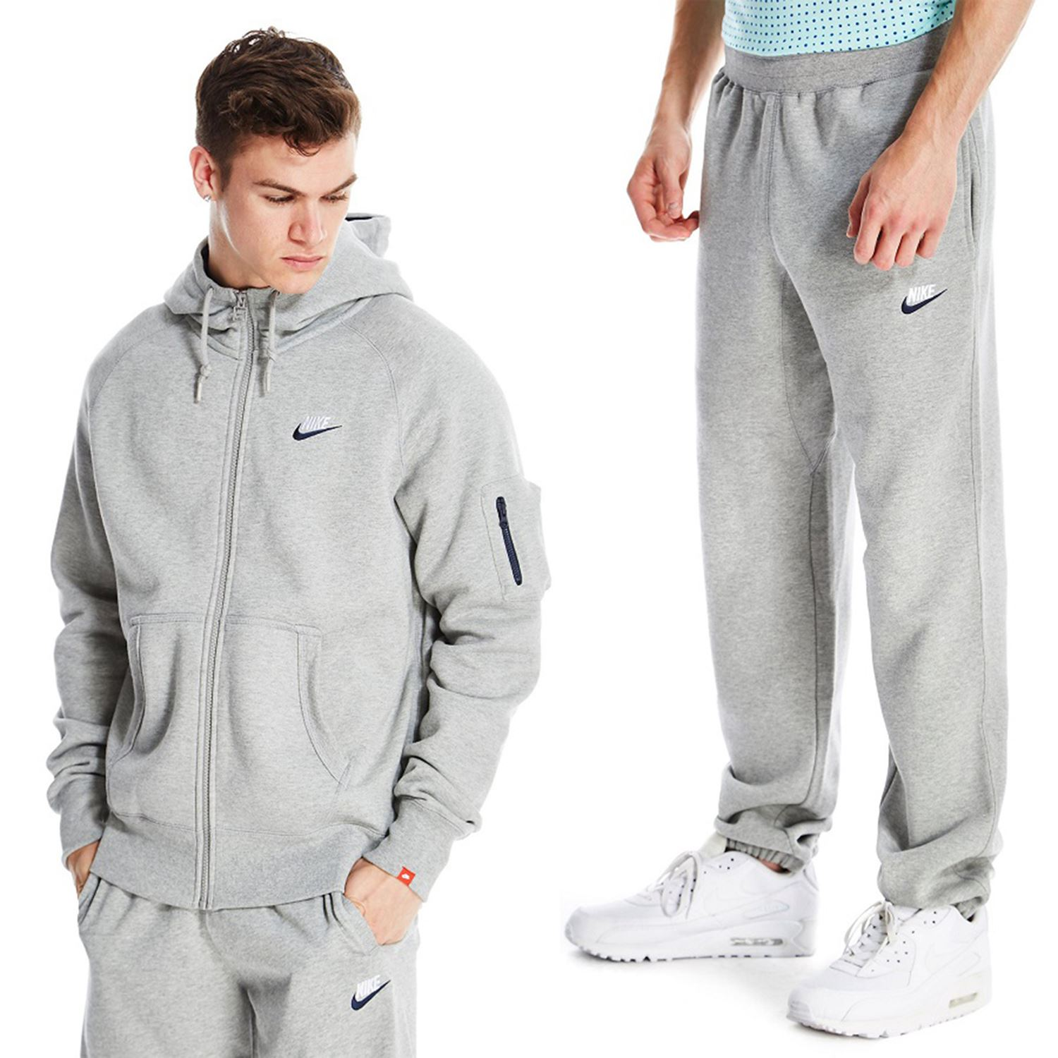 grey nike tracksuit mens