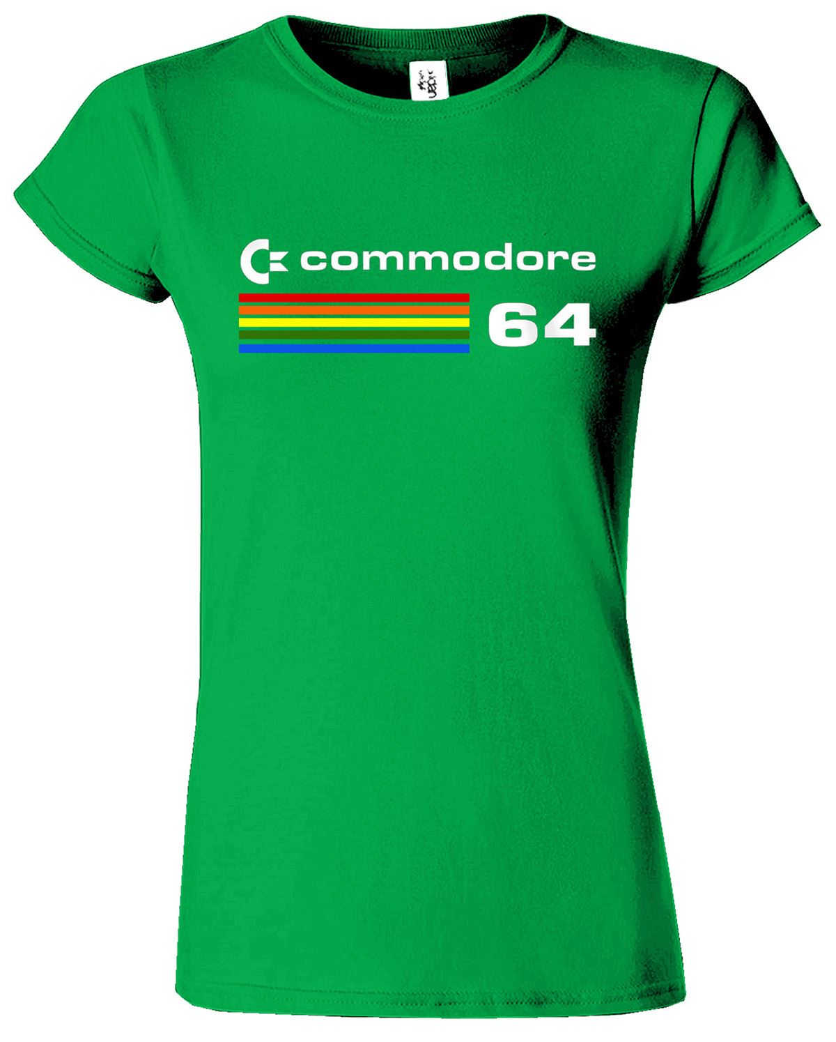 new look commodore 64 t shirt woman girls lady xxl l m s classic top tee shirt ebay. Black Bedroom Furniture Sets. Home Design Ideas