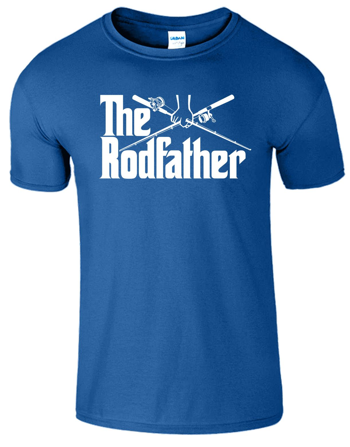 The rod father mens tshirt funny fishing rod reel for Funny fishing t shirts