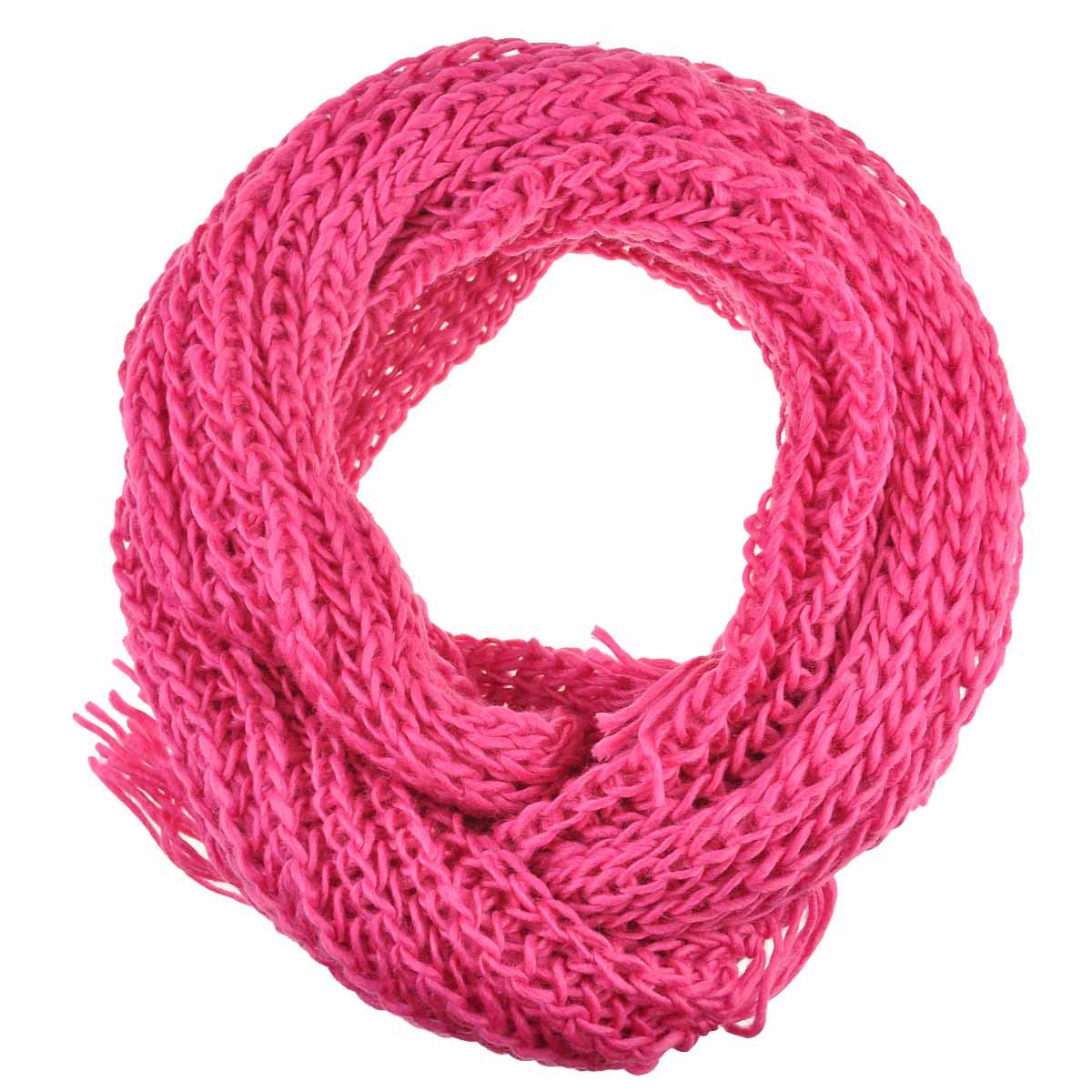 Knitting Chunky Scarves : Women plain knit scarf chunky knitted autumn winter warm
