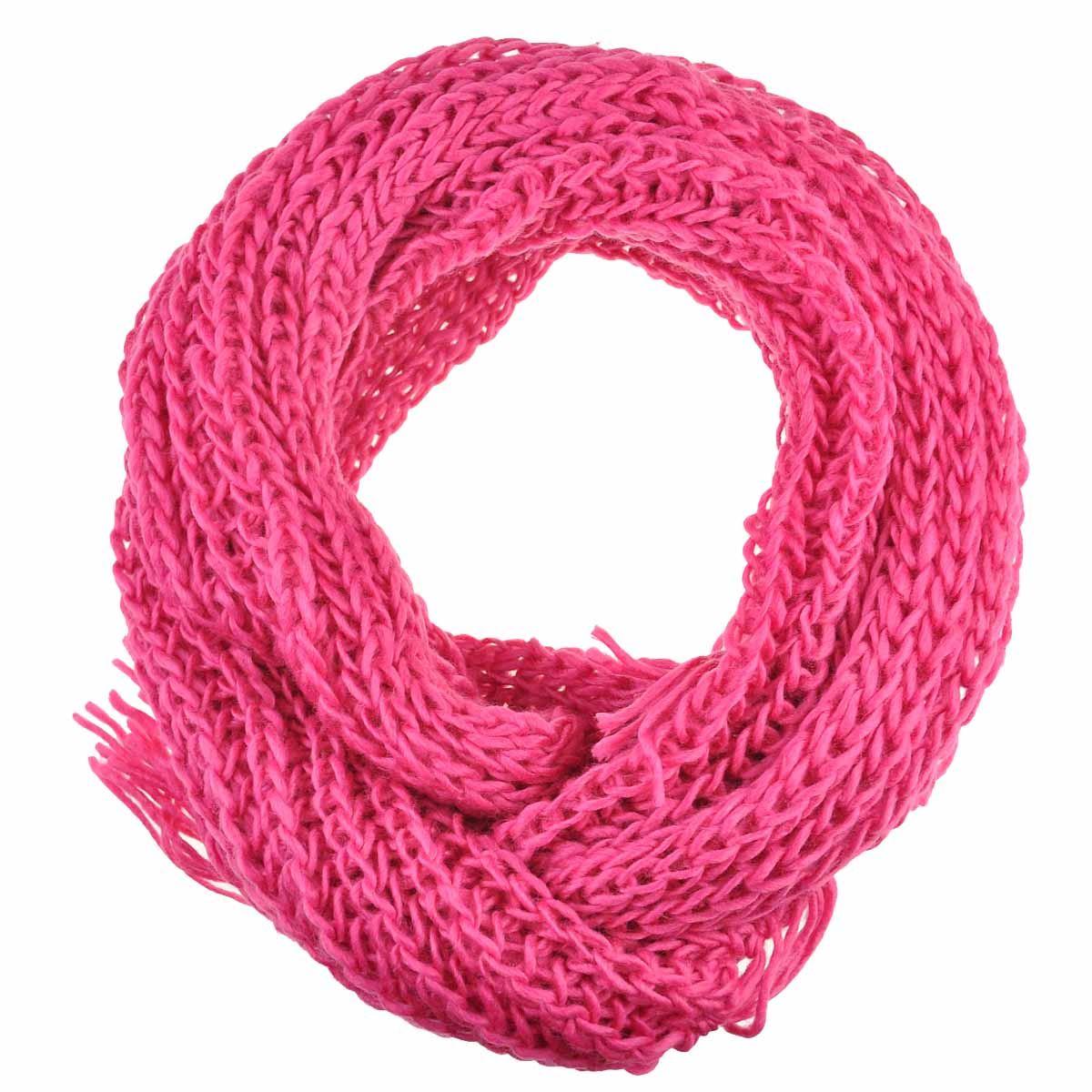 Knitting Chunky Scarf : Women plain knit scarf chunky knitted autumn winter warm