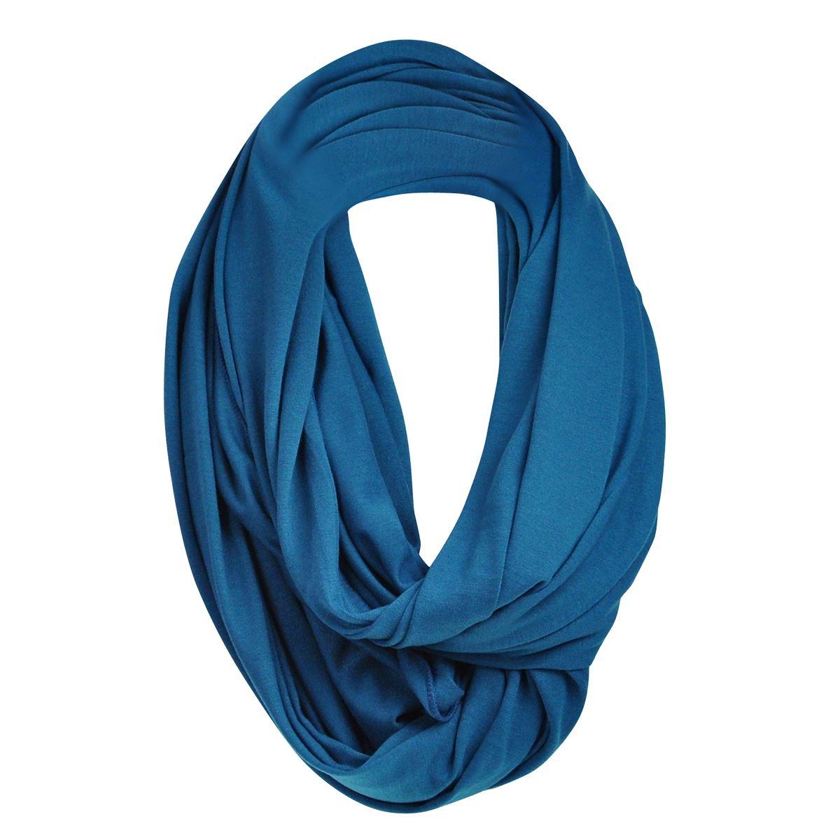 unisex jersey warm circle infinity plain snood scarf cowl