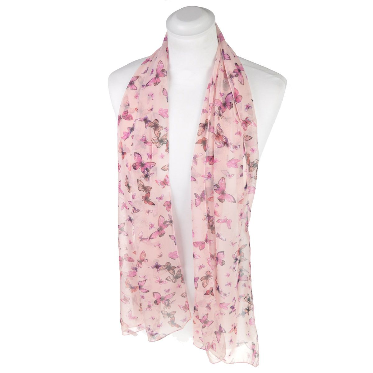classic small butterfly scarf premium quality neck
