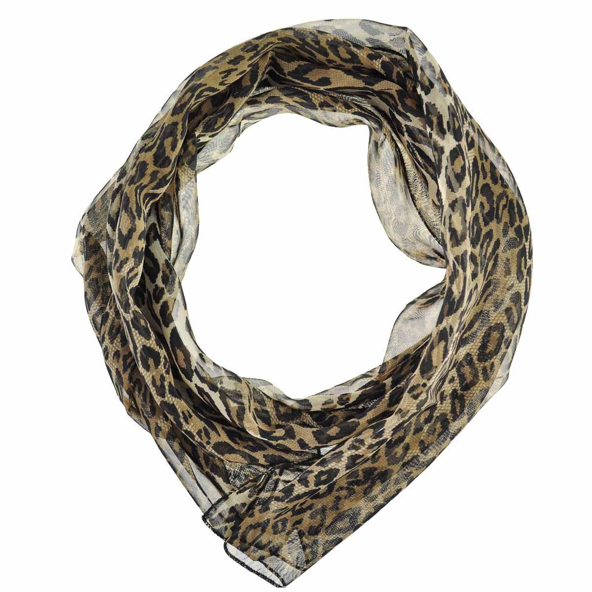 classic leopard scarf animal printed chiffon scarves