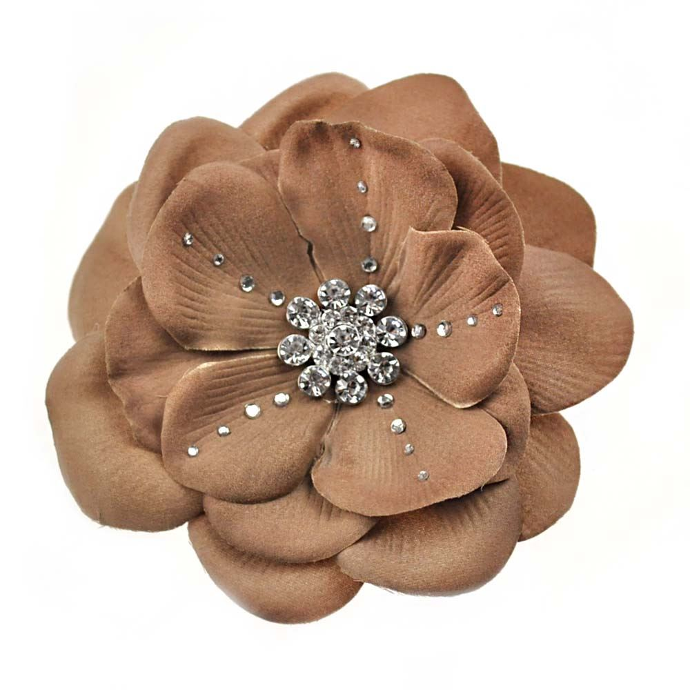 how to wear big flower hair clips