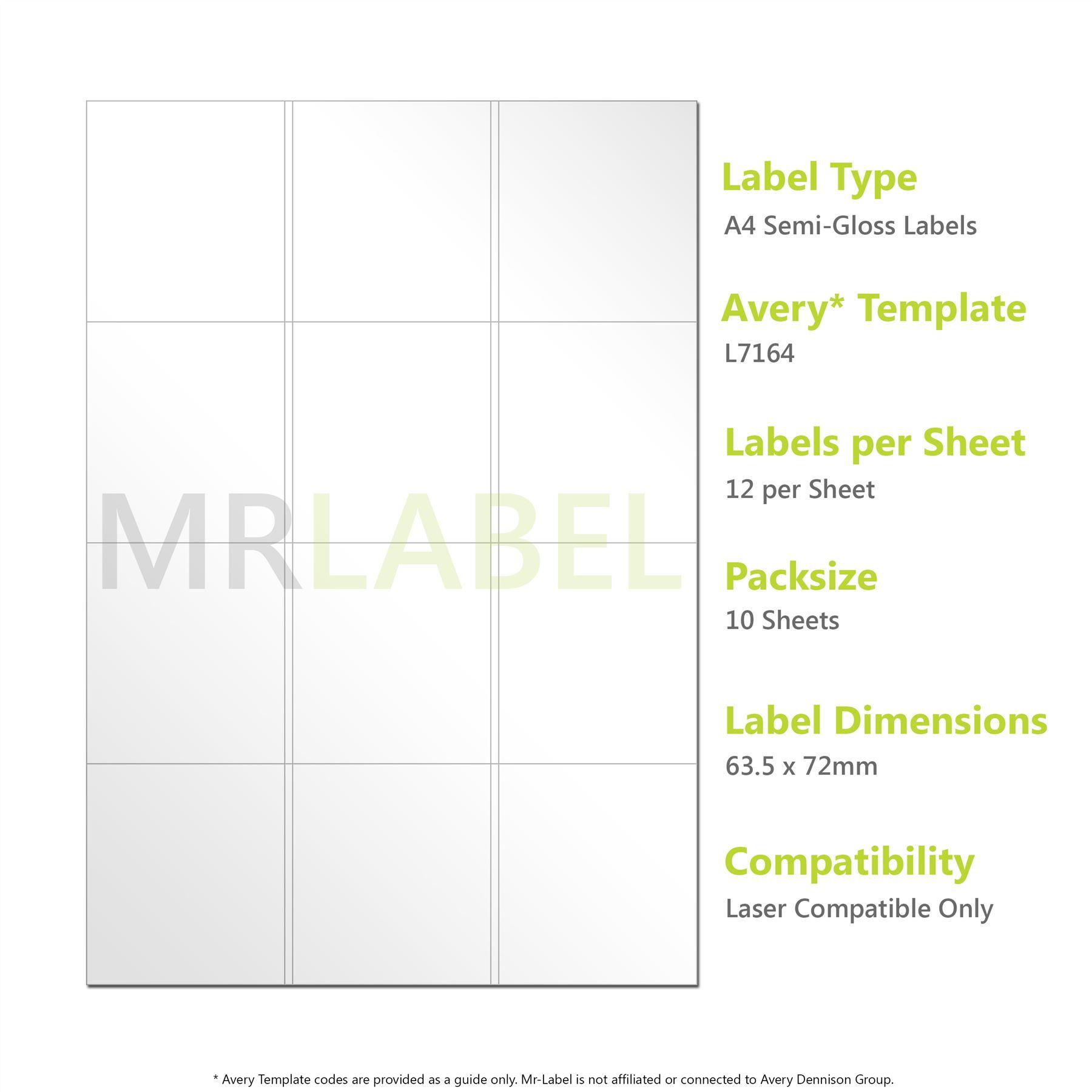 A4 Semi-Gloss Labels