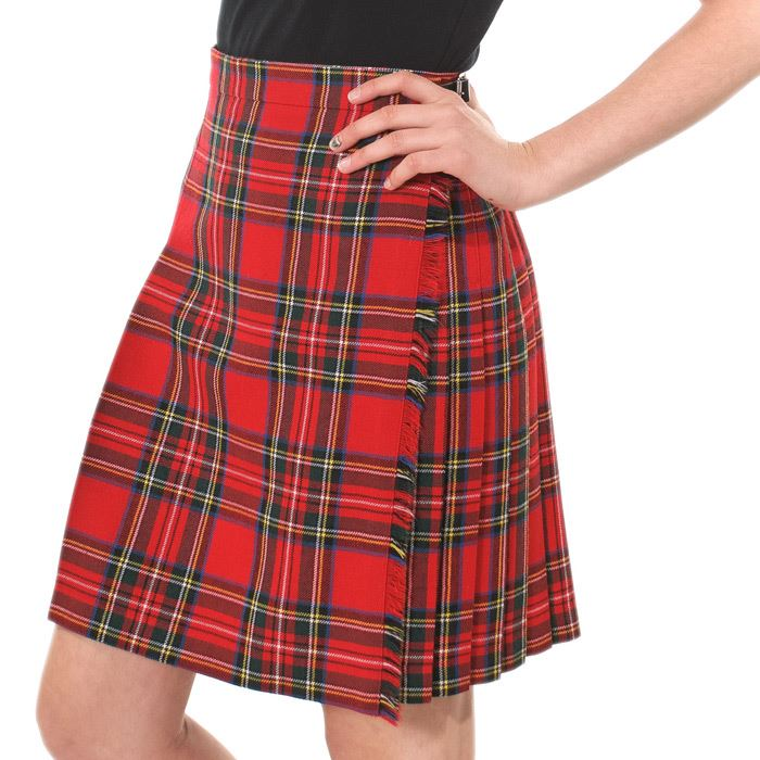 new scottish tartan midi knee length kilt skirt