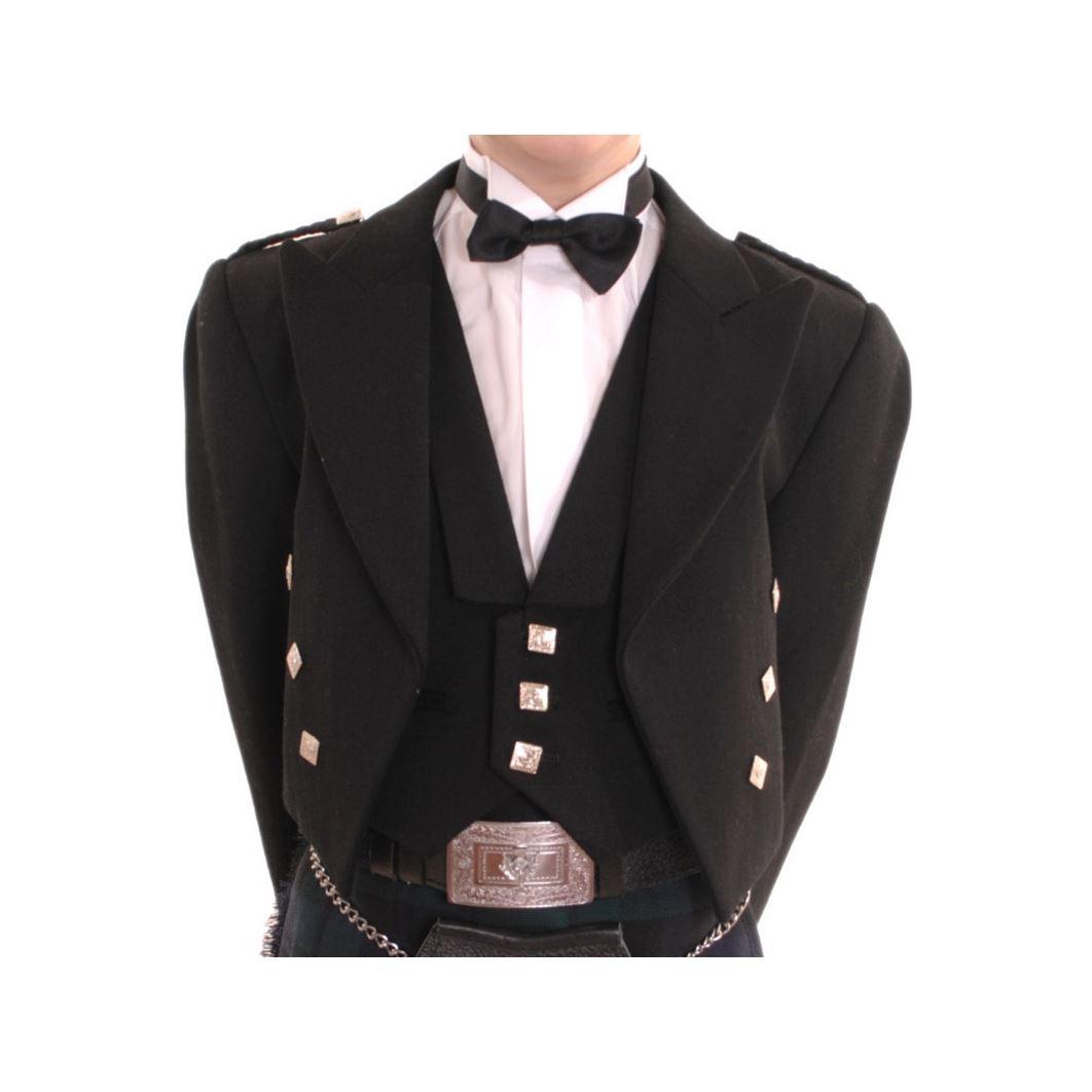 New-Boys-Scottish-Highland-Black-Formal-Prince-Charlie-Jacket-and-Waistcoat