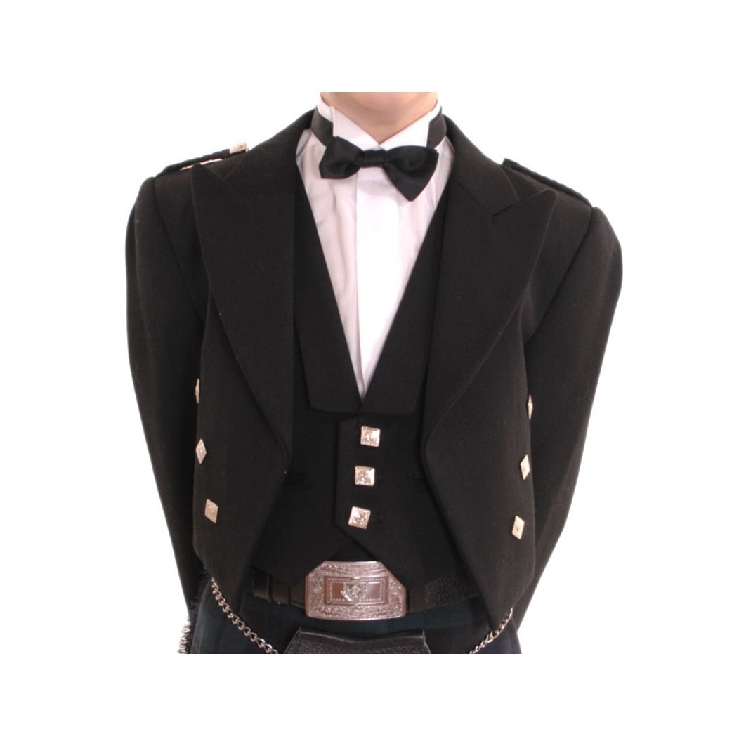 New-Boys-Scottish-Highland-Black-Formal-Prince-Charlie-Jacket-and-Waistcoat