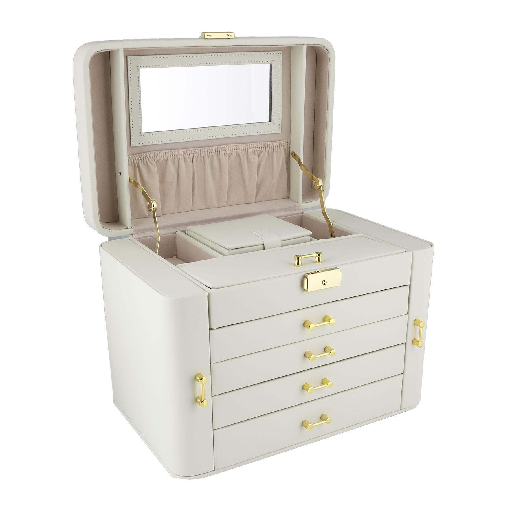 empress extra gro es beige creme leder schmuck k stchen by mele co ebay. Black Bedroom Furniture Sets. Home Design Ideas
