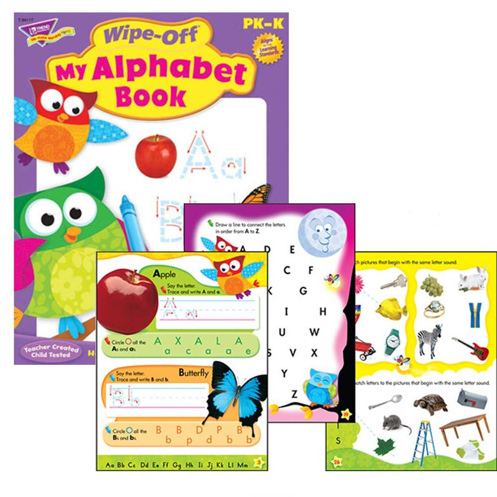 My Alphabet Book Wipe Off Educational Activity Book Owl