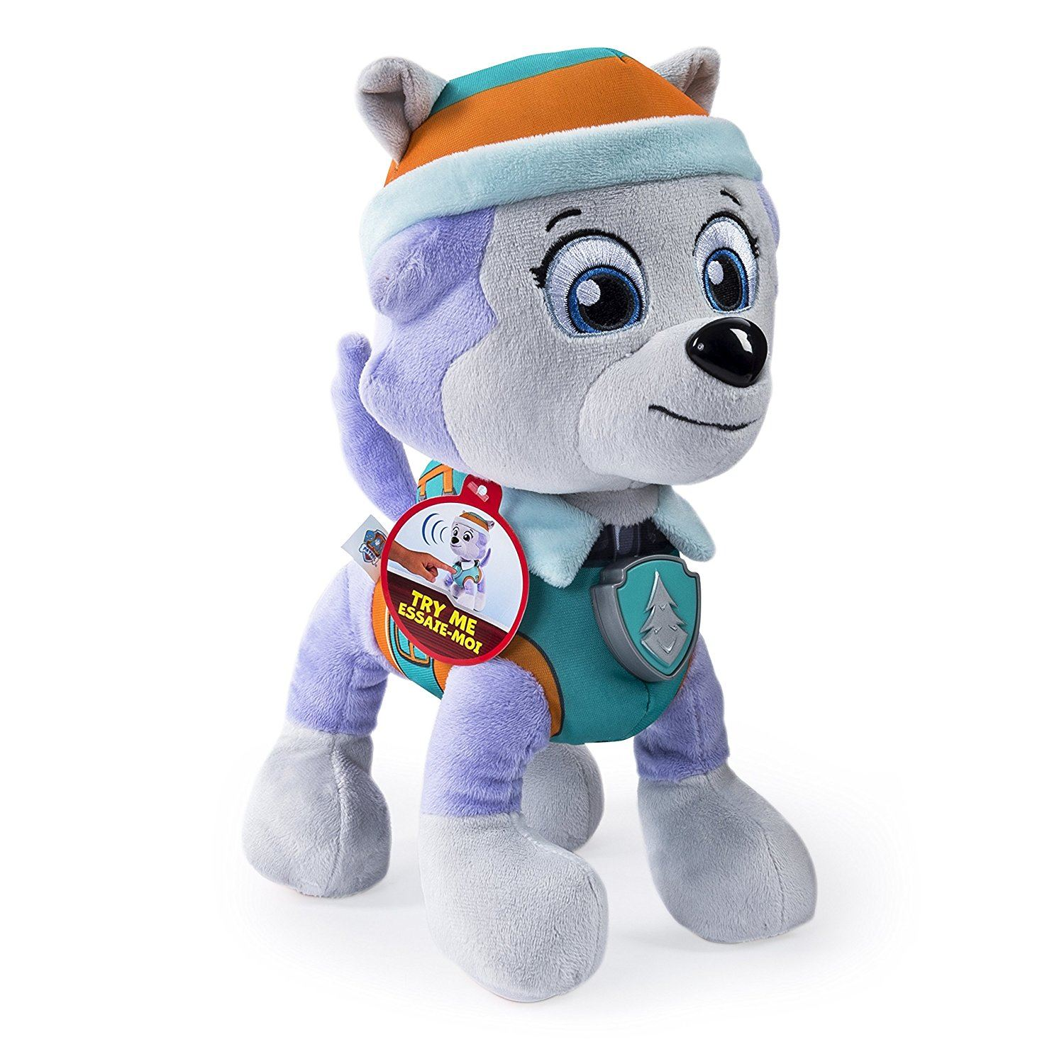 Details about paw patrol real talking rocky amp everest plush dog pup