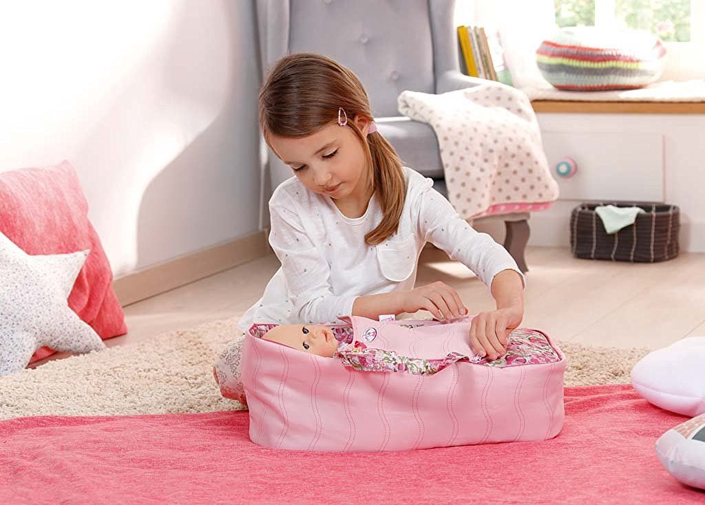zapf creation baby annabell 2 in 1 sleeping bag carrier ebay. Black Bedroom Furniture Sets. Home Design Ideas
