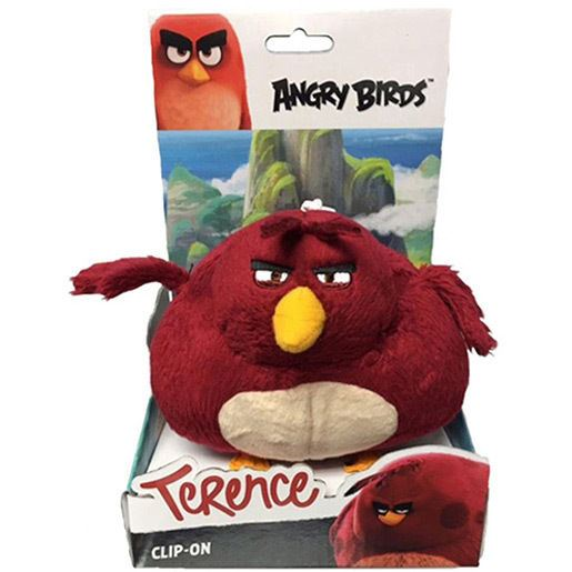 Angry birds movie large clip on soft toy terence ebay - Angry birds toys ebay ...