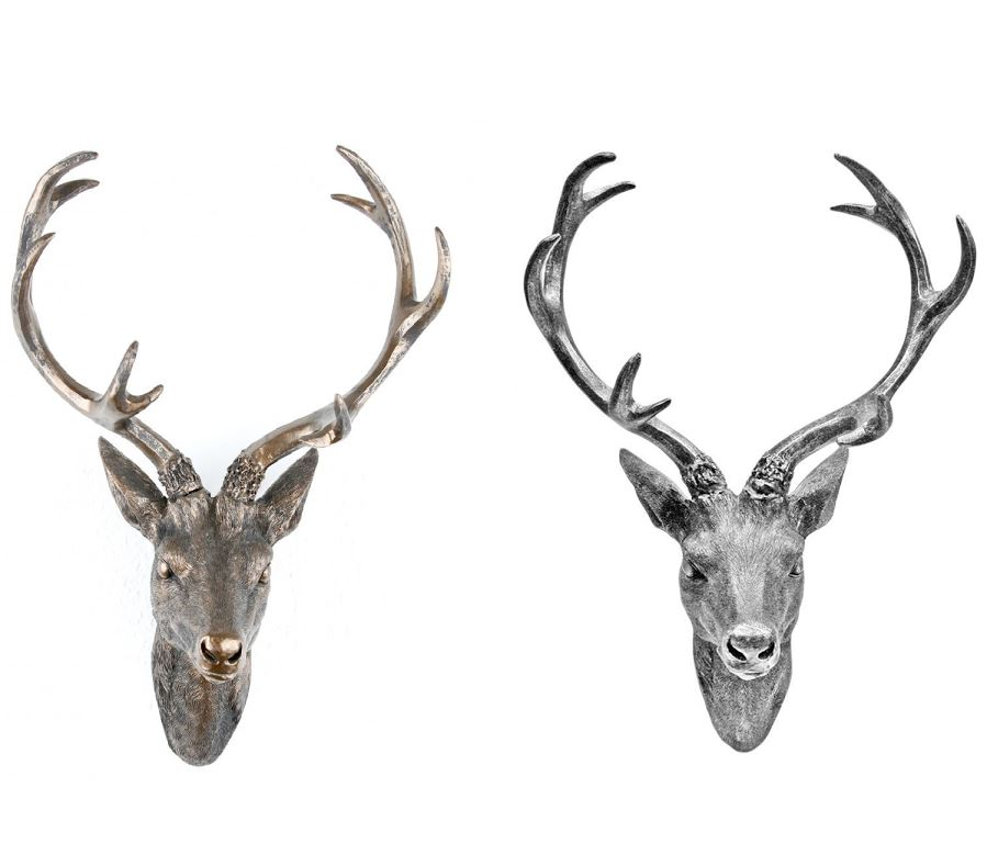 Wall mounted decorative stag deer heads ebay - Decorative stags head ...