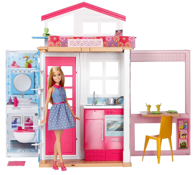 Barbie 2 story house doll playset malibu dream house ebay - Caleche barbie ...
