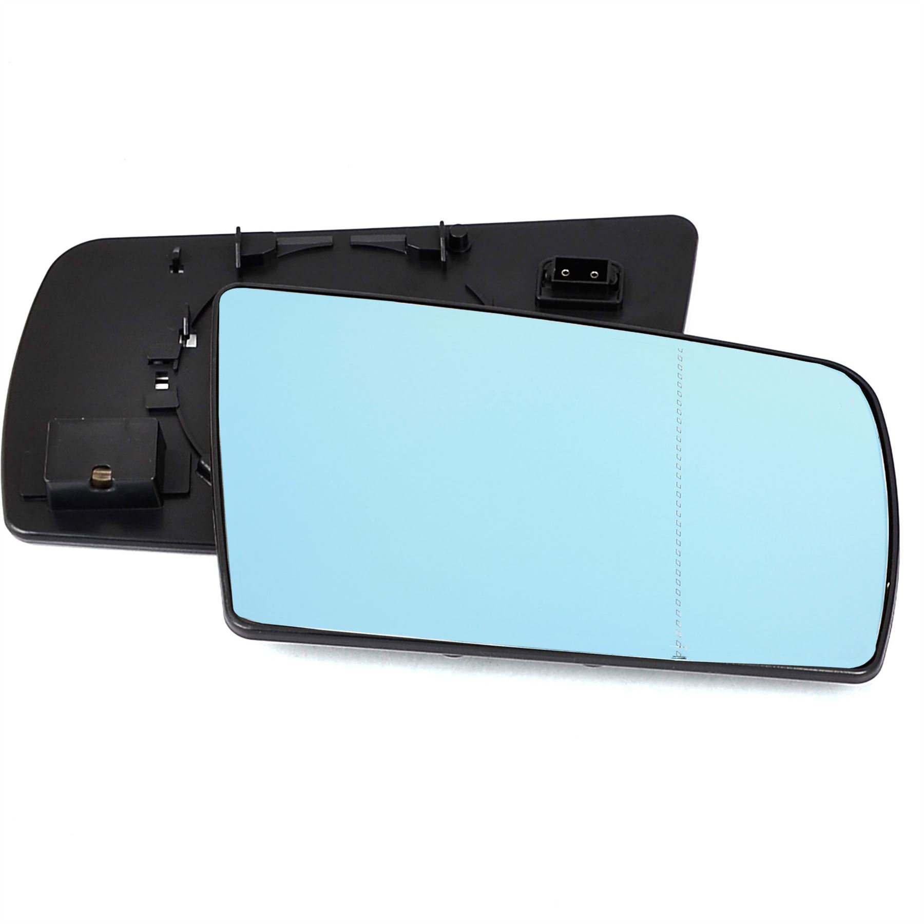 Driver side blue wide angle heated wing door mirror glass for Mercedes benz c300 side mirror glass