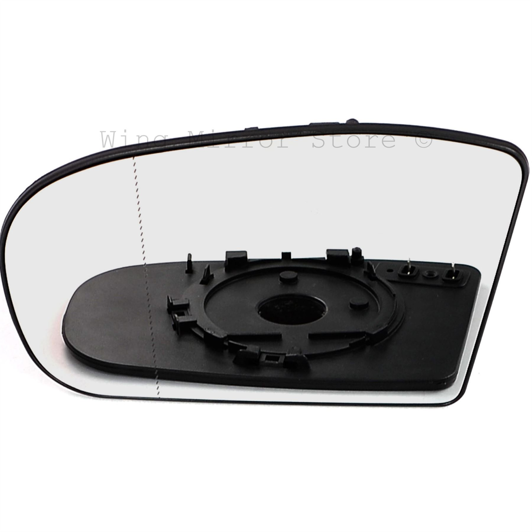 Left passenger side wide angle heated mirror glass for Mercedes benz c300 side mirror glass