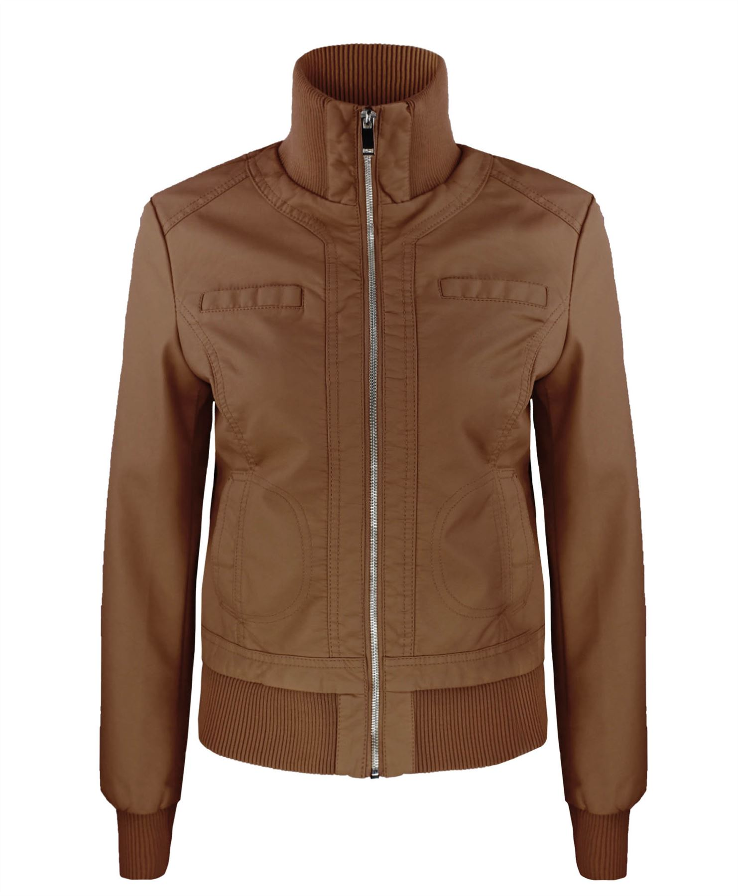 Soft leather jacket ladies