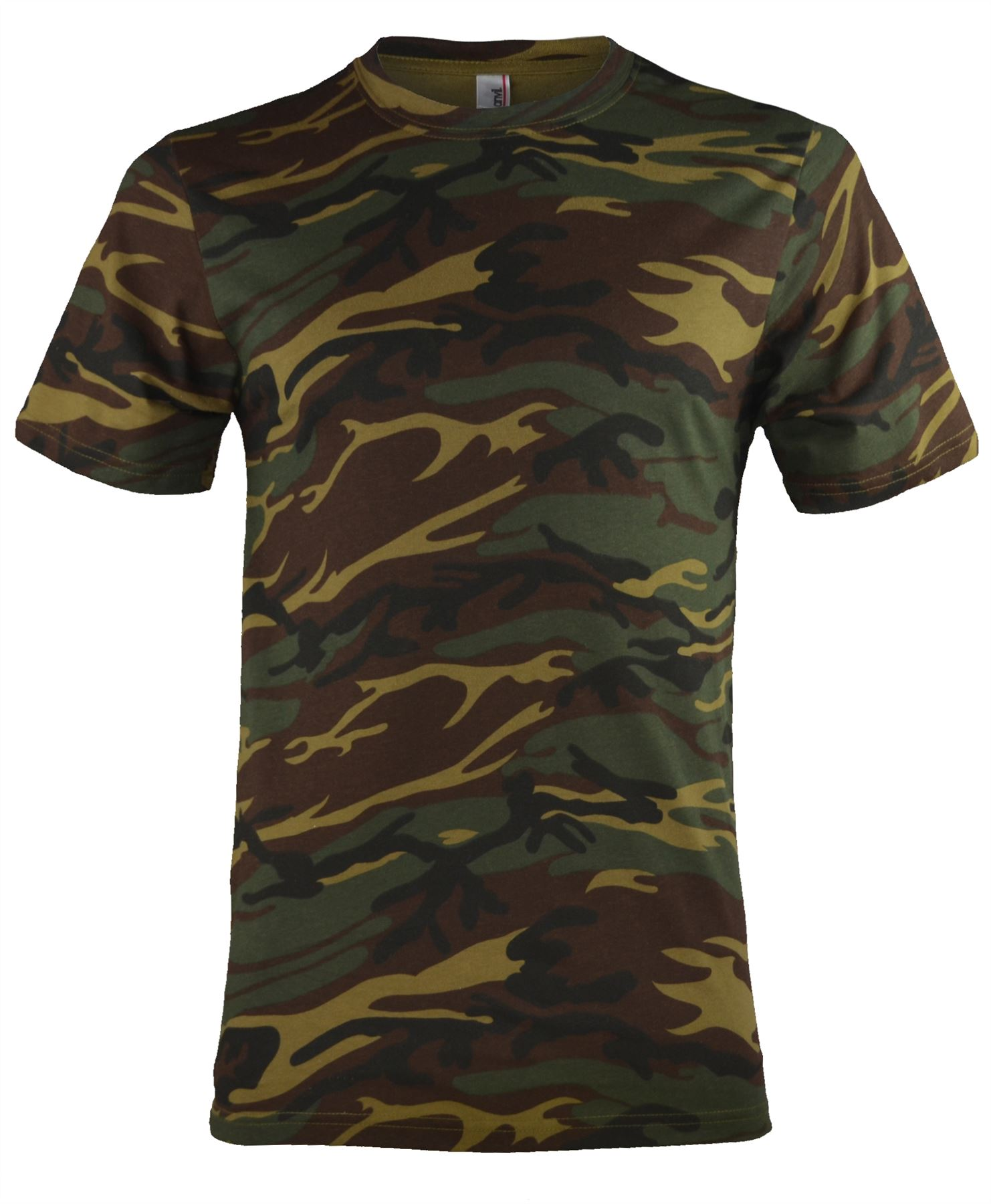 Mens military camouflage army print t shirt 100 cotton for Camouflage t shirt printing