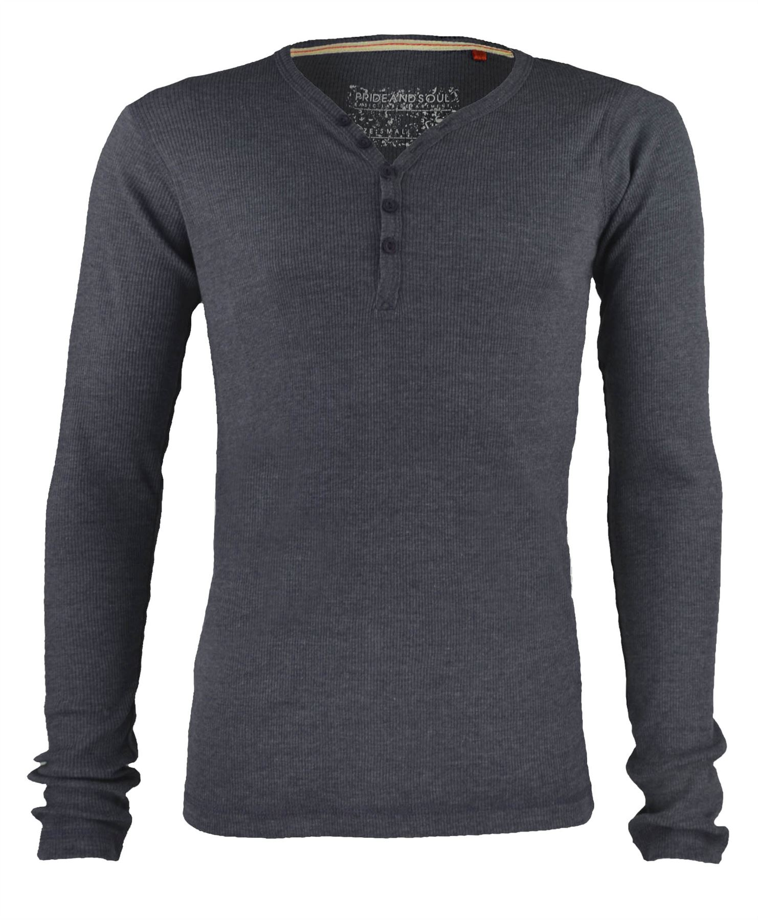 MENS V-NECK BUTTON TOP JERSEY RIBBED SWEATSHIRT LONG SLEEVE T ...