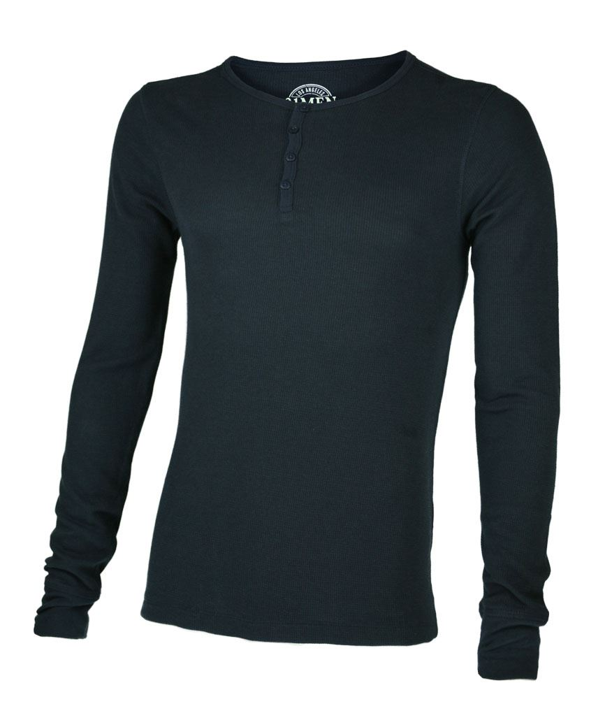 MENS-LONG-SLEEVE-WAFFLE-THERMAL-BUTTON-TOP-SWEATSHIRT-JERSEY-T-SHIRT-SIZE-XS-XL