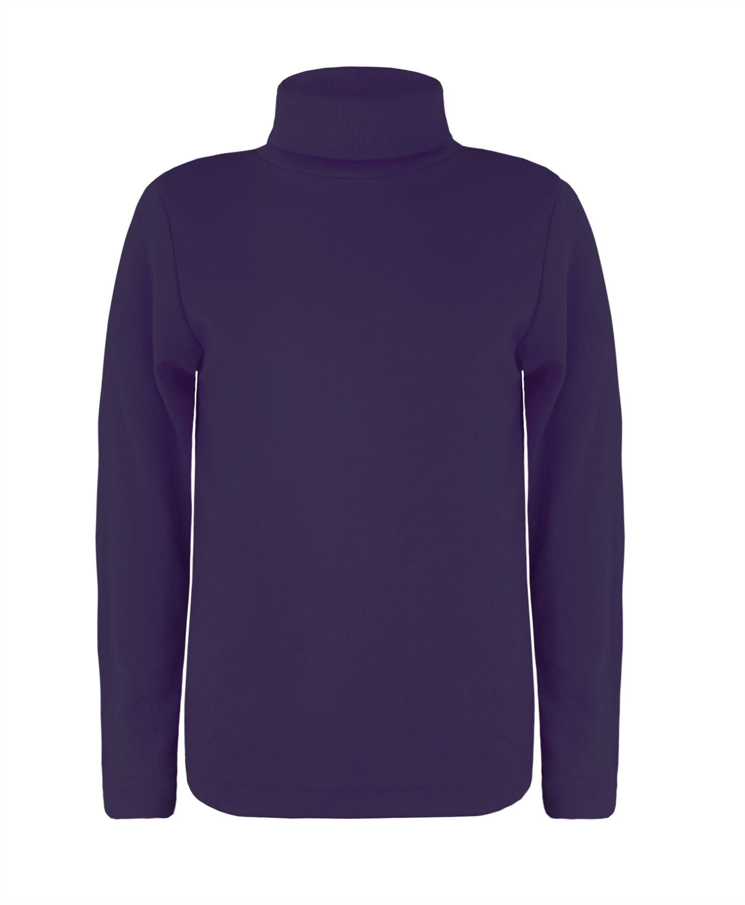 Kids long sleeve plain turtleneck basic jersey polo top for Long sleeved polo shirts for boys
