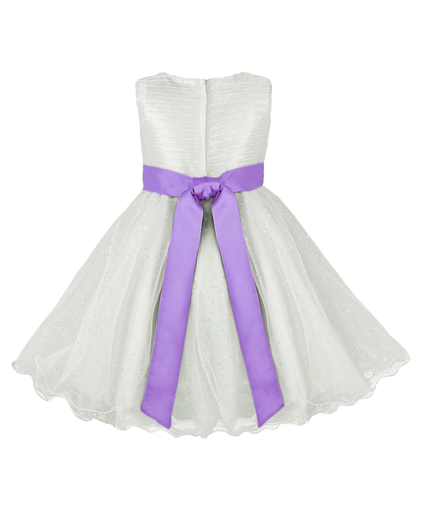GIRLS TULLE PARTY DRESS BOW DETAIL FLOWER GIRL WEDDING PAGEANT BRIDESMAID 2 1