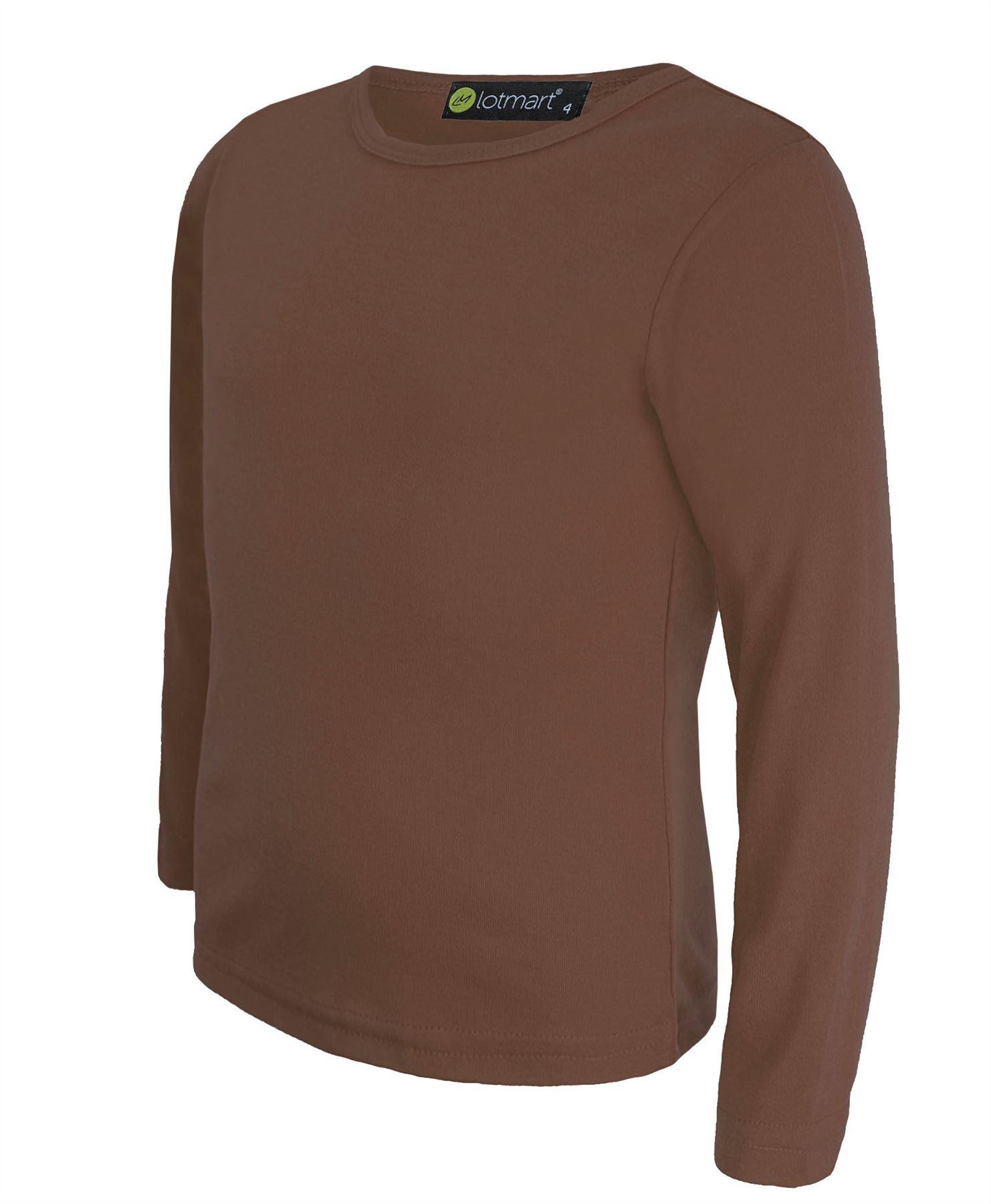 Kids plain basic top long sleeve girls boys t shirt tops for T shirts for kids
