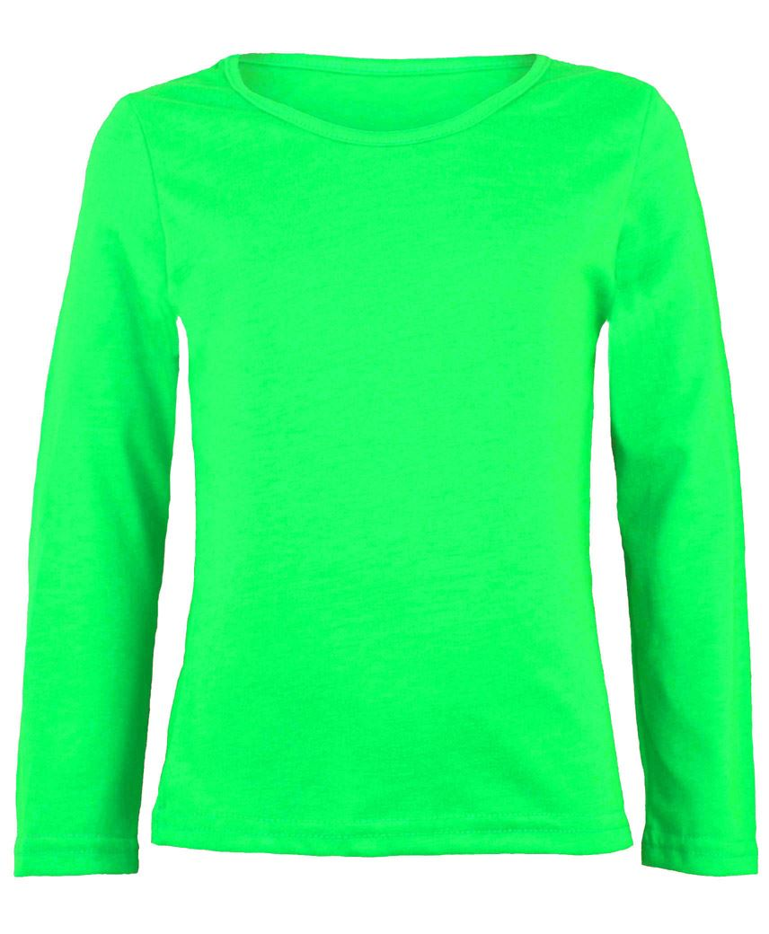 KIDS-LONG-SLEEVE-PLAIN-BASIC-TOP-GIRLS-BOYS-T-SHIRT-TOPS-CREW-UNIFORM-TEE-1-13Y