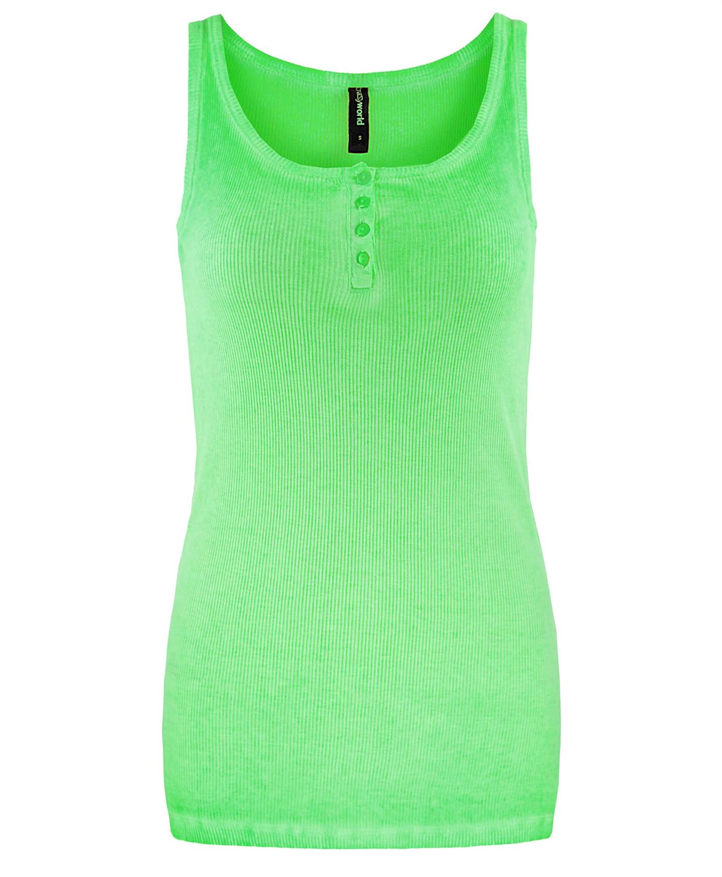 Ladies basic ribbed sleeveless button vest top womens for Basic shirts for women