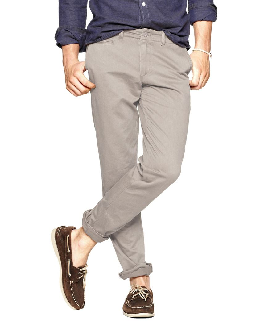 MENS SKINNY CHINOS WASHED COTTON TWILL TROUSERS CASUAL PANTS W 28 ...